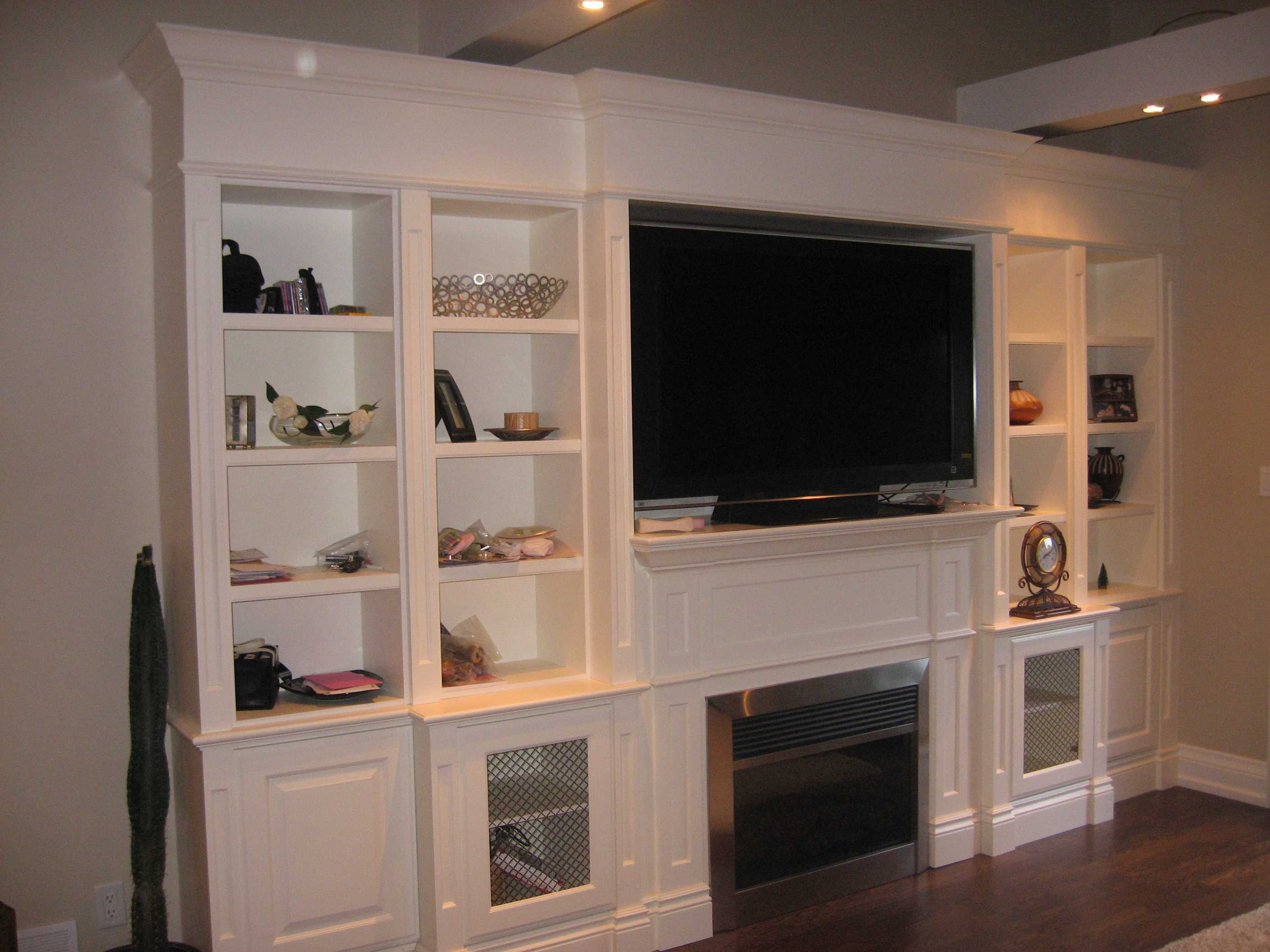 10feet Custom Wall Unit Painted Cloud White Exclusive Furniture Design