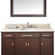 48 (w)X 22 (d)X 35 (h) Bathroom Vanity Natural Cream Marble