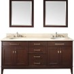 60 (w)X 22 (d)X 35 (h) Bathroom Vanity Natural White Marble